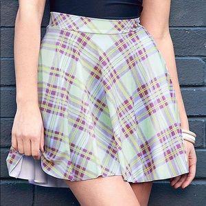 NWT✨ Blackmilk Tartan Pastel Pocket Skater Skirt M